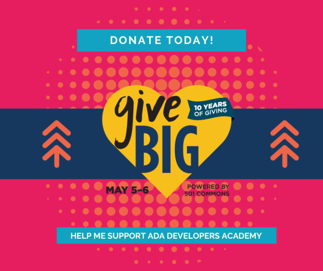 Help Me support Ada on Give Big